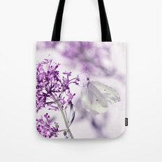 Butterfly macro white 55 Tote Bag