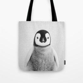 Baby Penguin - Black & White Tote Bag