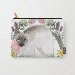 Pixie the Chocolate Siamese Cat Carry-All Pouch