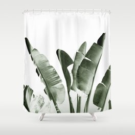 Traveler palm Shower Curtain