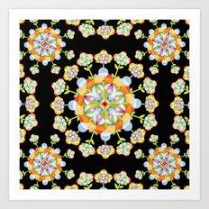 Jaipur Blossom Mandala Art Print