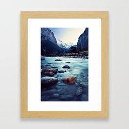 Penetrating the Mountainous hideouts Framed Art Print