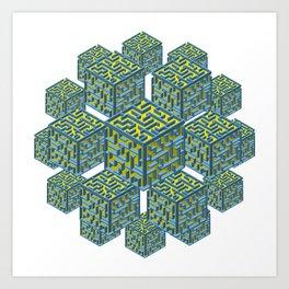 Cubed Mazes Art Print