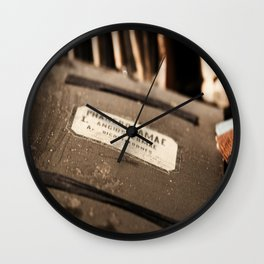 Old Documents Wall Clock