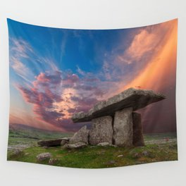 Poulnabrone Dolmen Sunset Wall Tapestry