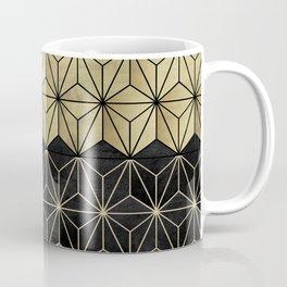 Gold Black Geo Glam #1 #shiny #geometric #decor #art #society6 Coffee Mug