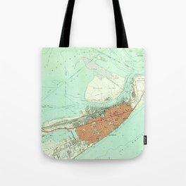 Vintage Map of Galveston Texas (1954) 3 Tote Bag