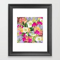 English Country Garden Framed Art Print