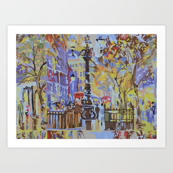 paint by numbers pattern Art Print