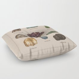Gems and Minerals Floor Pillow