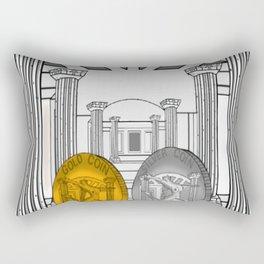 Necropolis Coins Gold and Silver 1 Rectangular Pillow