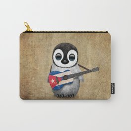 Baby Penguin Playing Cuban Flag Guitar Carry-All Pouch