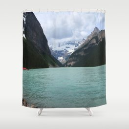 Lake Louise From The Eastern Shore Shower Curtain