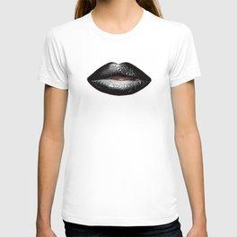 Black Goth Lips SWAK A820 T-shirt