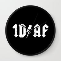1d Wall Clocks featuring 1D AF by kendrawcandraw