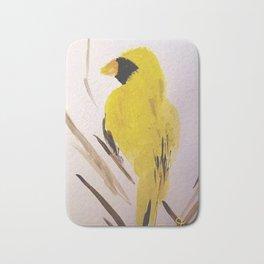 Yellow Cardinal Bath Mat
