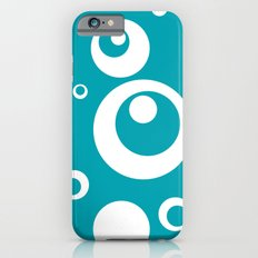 Circles Dots Bubbles :: Turquoise Slim Case iPhone 6s