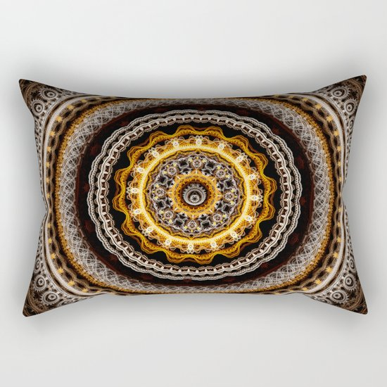 Mandala with tribal patterns Rectangular Pillow
