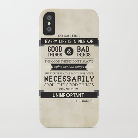 Good Things & Bad Things iPhone Case