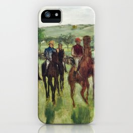 The Riders (ca. 1885) painting in high resolution by Edgar Degas iPhone Case
