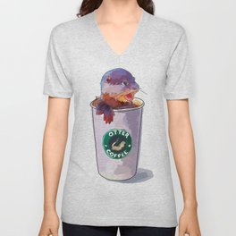 Otter Coffee Unisex V-Neck