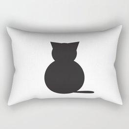 Graphi cat b&w Rectangular Pillow