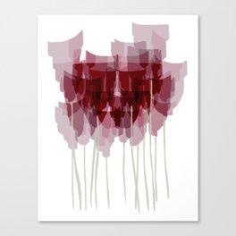Dark Red Goblet Flower Bunch Canvas Print