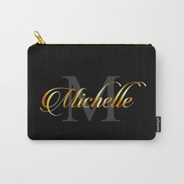 Name and initial of a girl Michelle in golden letters Carry-All Pouch