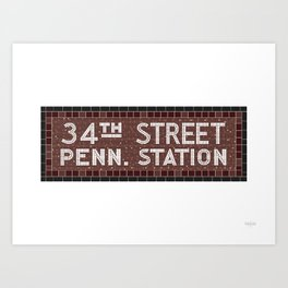 34 Street Penn Station Art Print