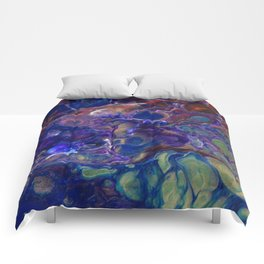 Purple Green Blue Red Flo Cels Comforters