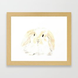 Soft Watercolor Bunny Framed Art Print