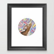 Psychedelic Deer Framed Art Print