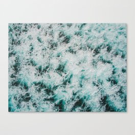Marbled Waves Canvas Print