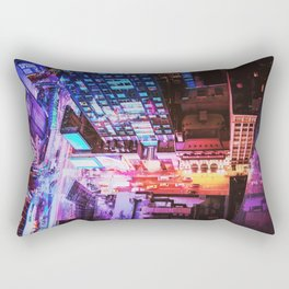 New York City Blade Runner Rectangular Pillow