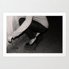 skateboarding girl Art Print