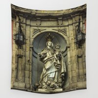 madrid Wall Tapestries featuring Cathedral collection, Madrid  by Svetlana Korneliuk