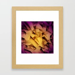 3D Low Poly 1 Framed Art Print