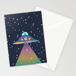 Alien in her Ship Stationery Cards