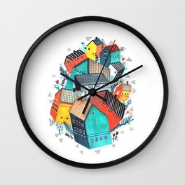 Tumble Town  Wall Clock