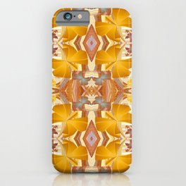 Golden Orange Floral Boho Kalidescope Print iPhone Case
