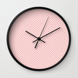 Tiny Paw Prints Pink Blush Pattern Wall Clock