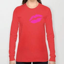 Pink lipstick Long Sleeve T-shirt