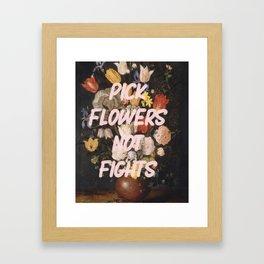 Pick Flowers Framed Art Print