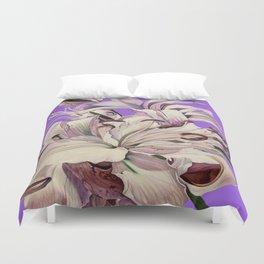"""""""Purple Lilies"""" Duvet Cover"""