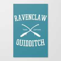 quidditch Canvas Prints featuring Hogwarts Quidditch Team: Ravenclaw by IA Apparel