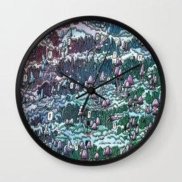 Little mushrooms –color Wall Clock