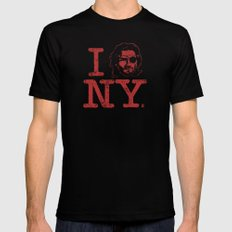 I (Snake) NY MEDIUM Black Mens Fitted Tee