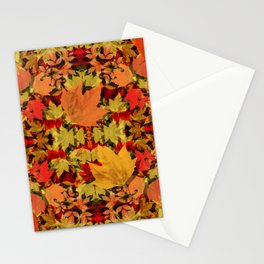 Leaves all Around Stationery Cards