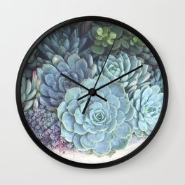 Succulent Container Wall Clock