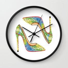 Beautiful leather high heels Wall Clock